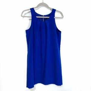 Oleg Cassini Cobalt Blue Shift Dress